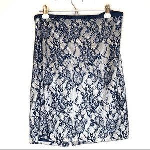 The limited skirts, blue lace skirt size 10